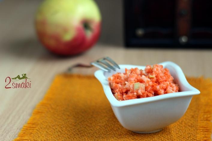 Surówka z marchwi, jabłek i pora