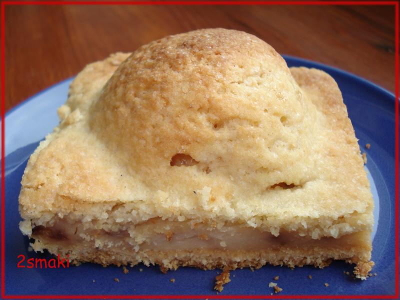 Ciasto kruche z jabłkami i budyniem