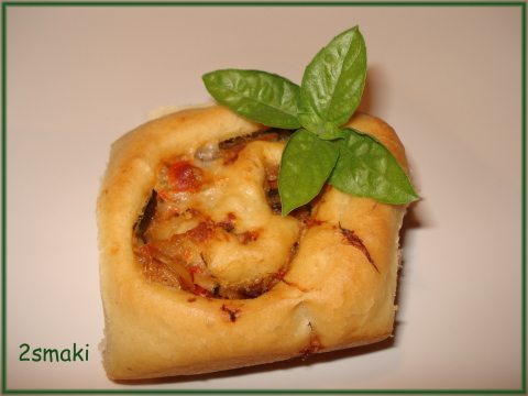 Roladki z warzywami pieczonymi