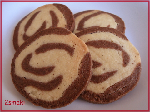 Spiralki czekoladowo-waniliowe