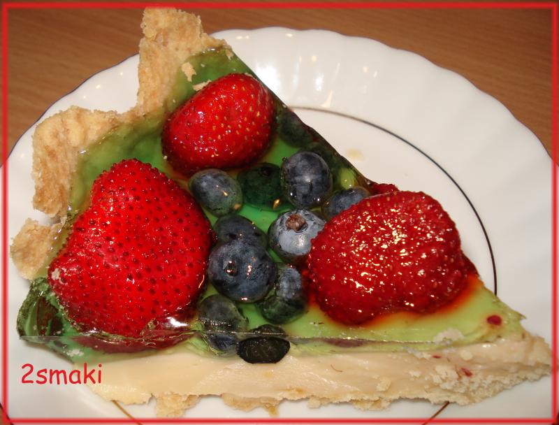 Tarta owocowa z budyniem