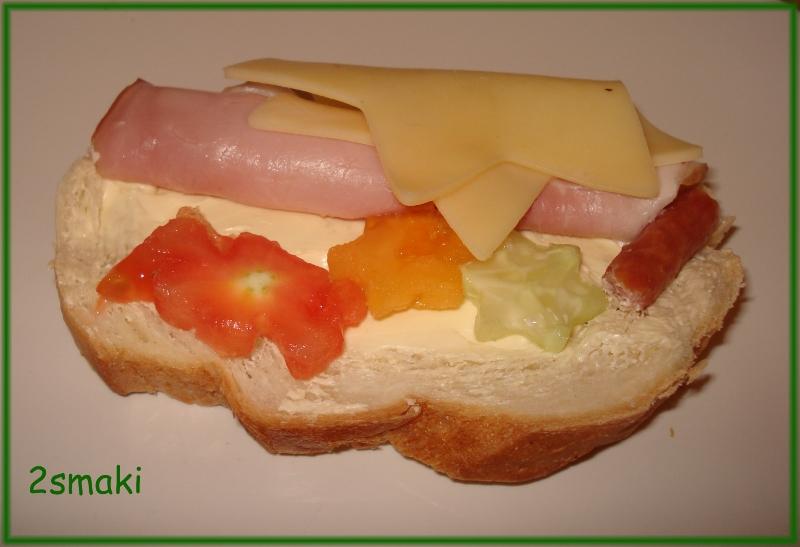 Wesoła kanapka dla dzieci
