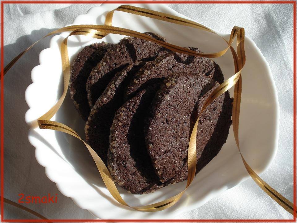Ciastka czekoladowo-kawowo-pomarańczowe