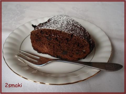 Ciasto czekoladowo-kawowe z daktylami i kandyzowanymi gruszkami