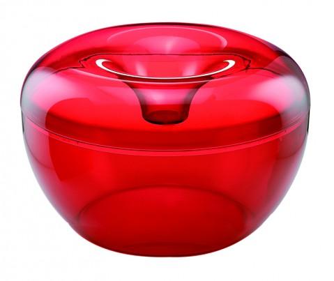 Guzzini czerwony pojemnik na ciastka