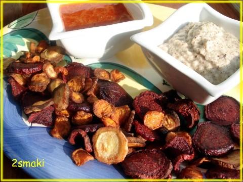 Chipsy z buraków, marchewki i pietruszki