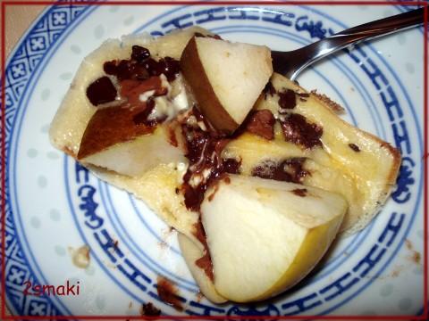 Raclette na słodko, owocowo-czekoladowy