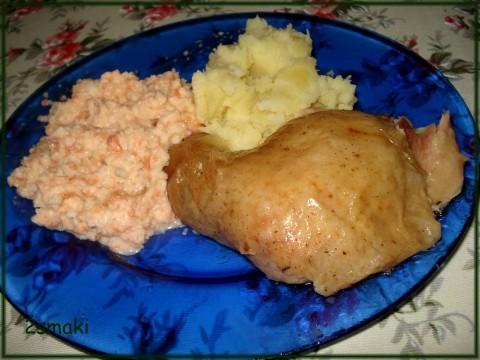 Pieczony kurczak z natką pietruszki