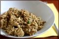 Risotto grzybowe z czosnkiem i orzechami