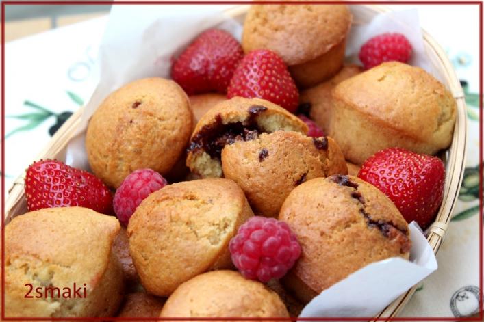 Waniliowe muffinki z nutellą