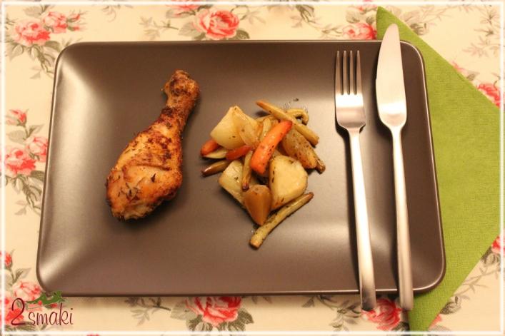 Rozmarynowy kurczak z warzywami