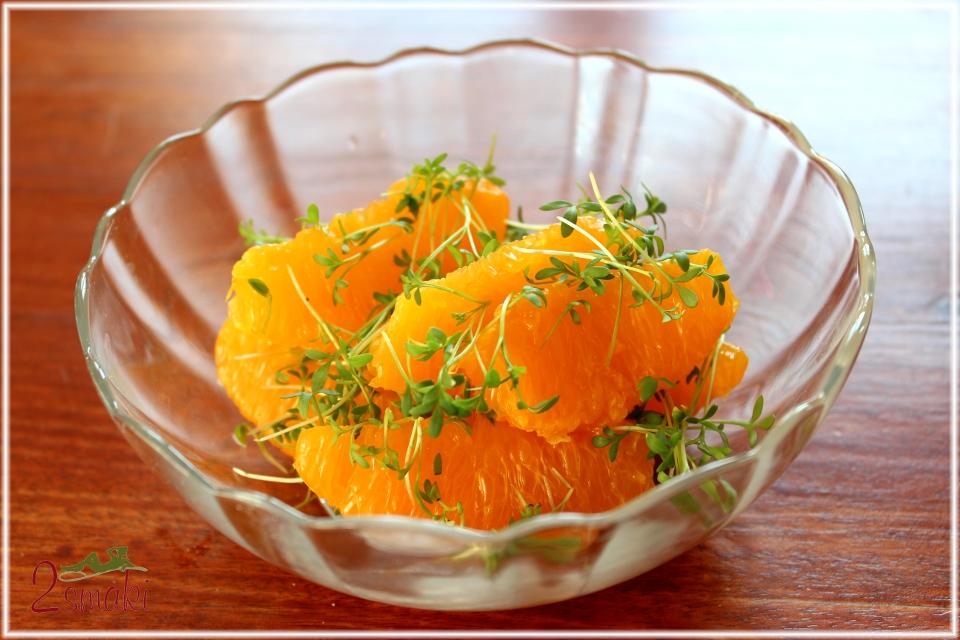 Pomarańcza z rzeżuchą