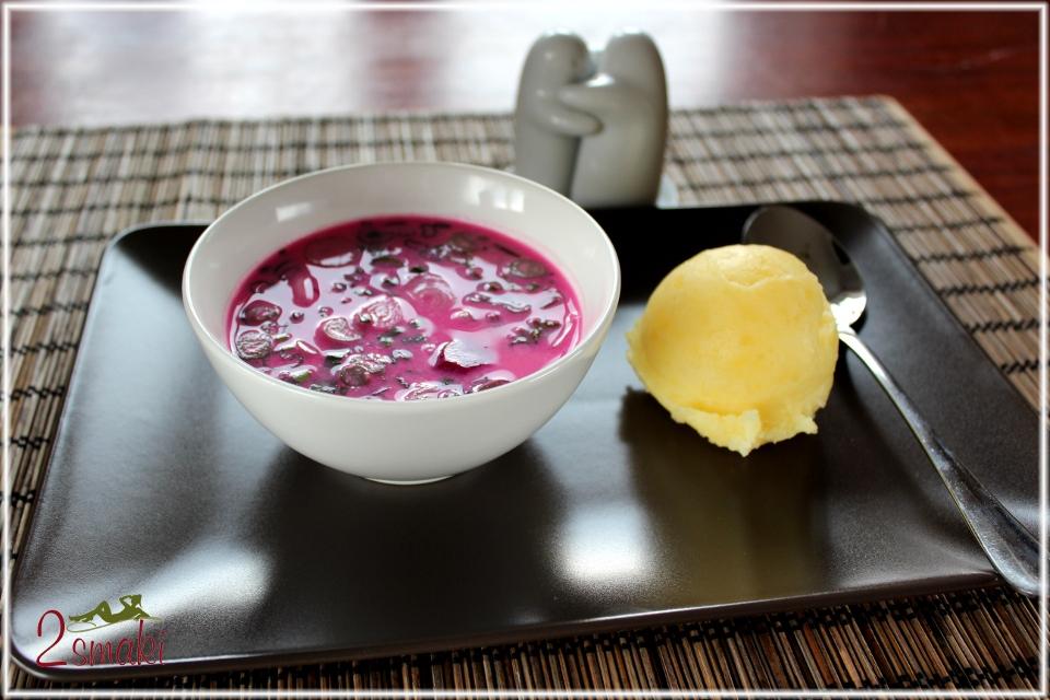 Chłodnik z botwinki z ziemniakami pure