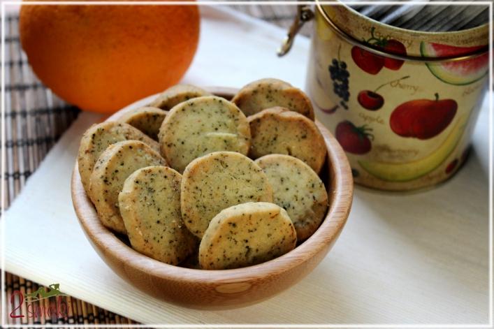Ciasteczka pomarańczowe z herbatą Earl Grey
