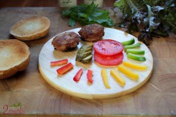 Kotlet burger z indyka 1