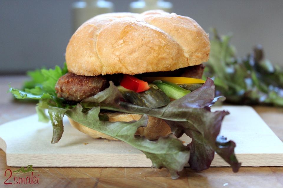 Kotlet burger z indyka