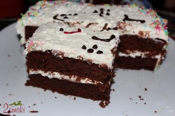 Tort brownies z bitą śmietaną piętrowy 0