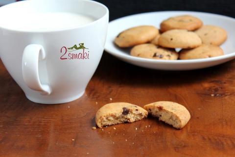 Ciastka kajmakowe z kawałkami czekolady