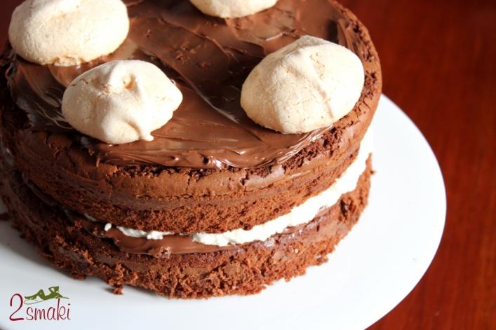 Tort brownies z nutellą