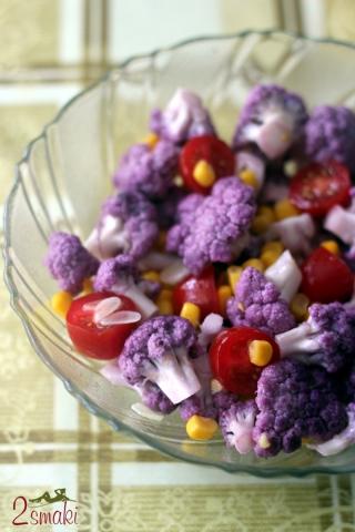 Sałatka z fioletowym kalafiorem 000
