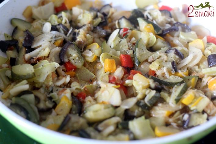 Smażony patison z warzywami 1