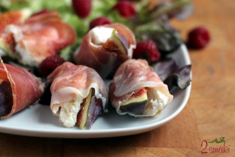 Figi z serem kozim i szynką hiszpańską