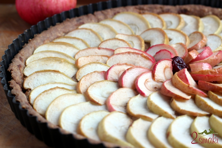 Pełnoziarnista tarta jabłkowa