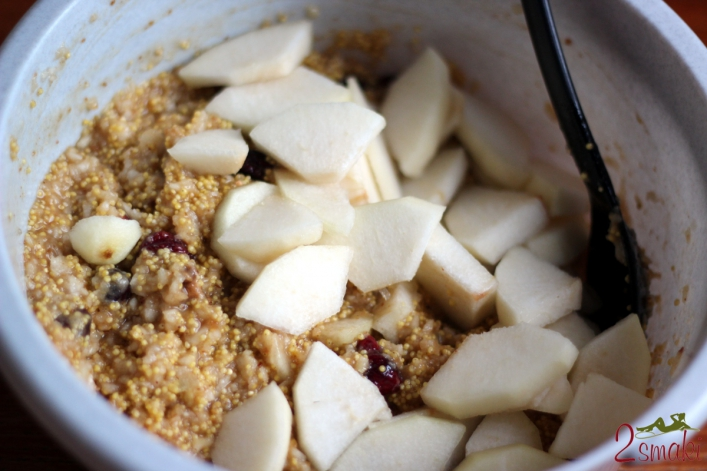 Ciasto jaglane z gruszkami 1