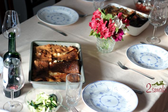 Lazania z warzywami i serem feta 0