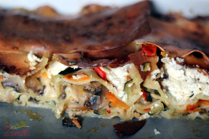 Lazania z warzywami i serem feta 00