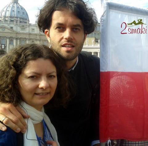 Włochy piękne - Rzym Ola i Janek na Placu Świętego Piotra