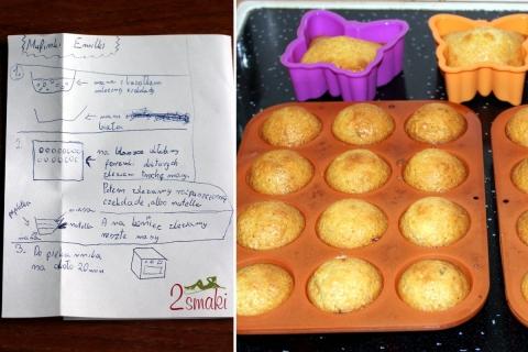 Muffinki Emilki - waniliowe z mleczną czekoladą