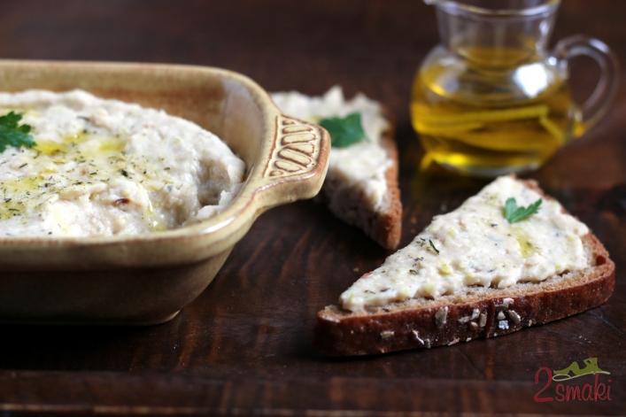 Pasta z białej fasoli z karmelizowanym porem 0