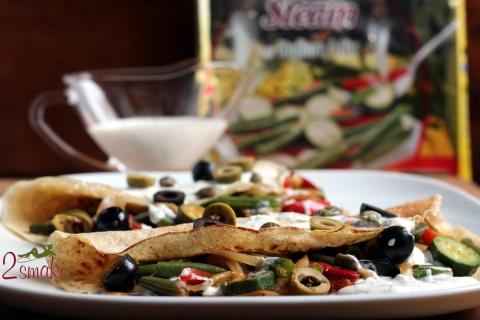 Pełnoziarniste naleśniki z warzywami Bonduelle po włosku