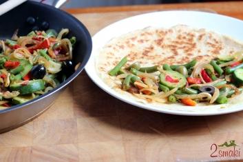 Pełnoziarniste naleśniki z warzywami po włosku 7