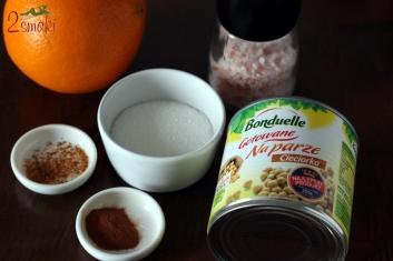 Chrupiaca przekaska z cieciorki w karmelu 1