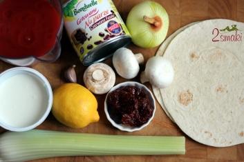 Pożywna fasolka po meksykańsku w chrupiącej miseczce z tortilli 1