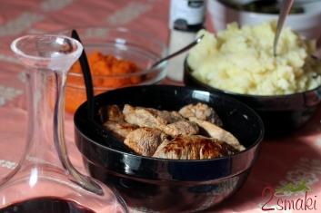 Steki z puree z marchwi i chrupiącymi warzywami 6