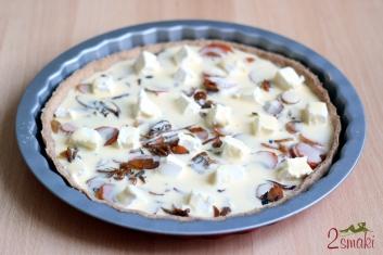Tarta owsiana z karmelizowaną cebulą i serem feta 4