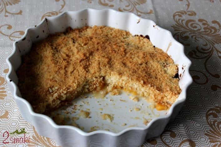 Brzoskwinie i jabłka pod kruszonką 2