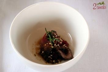 Rejs i wołowina QMP Menu - Gyu tataki