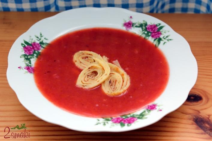 Zupa mirabelkowa z waniliowymi kluskami naleśnikowymi 0
