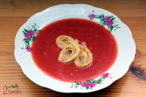 Zupa mirabelkowa z waniliowymi kluskami naleśnikowymi