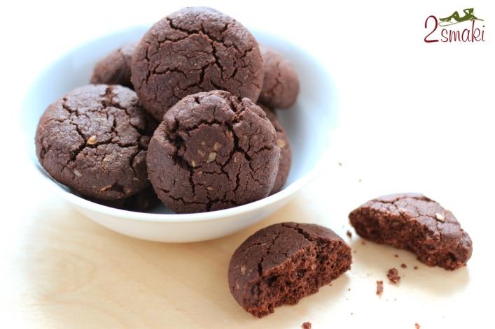 Żytnie ciastka czekoladowe z otrębami