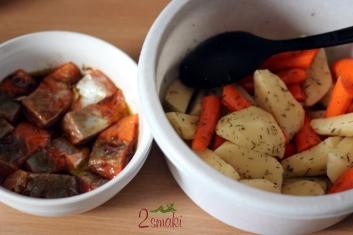 Grillowany łosoś z warzywami 2