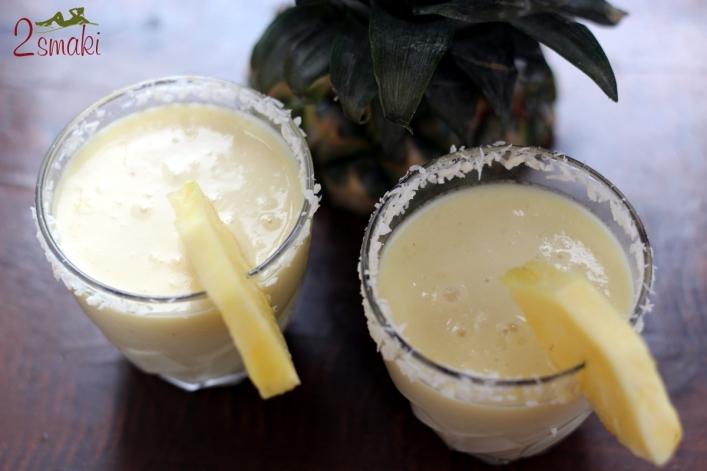 Koktajl ananasowo-kokosowy