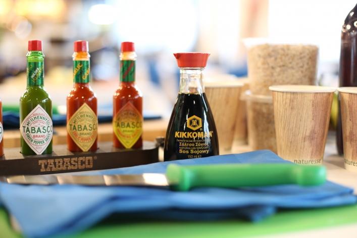 Warsztaty orzechowe Kikkoman i Tabasco 1 produkty