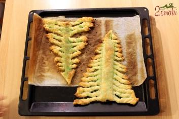 Zielona choinka z ciasta francuskiego 2