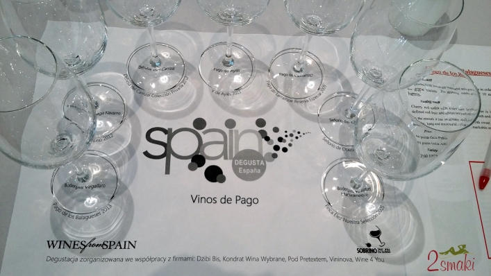 Degustacja win hiszpanskich - kieliszki i nazwy win