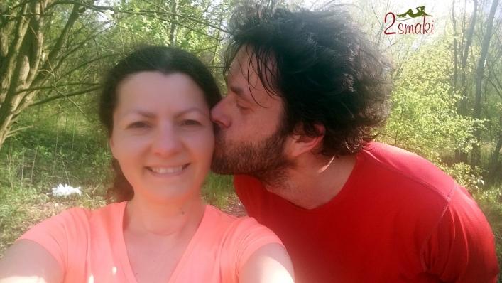 Ola i Janek po biegu